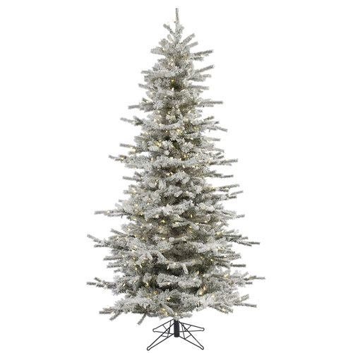 Vickerman A862086led 10 Ft Flocked Slim Sierra Tree Flocked Whit Slim Christmas Tree White Artificial Christmas Tree Slim Artificial Christmas Trees