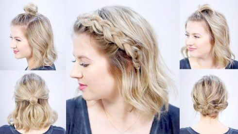 Fun Hairstyles For Short Hair To Do At Home Step By Step In 2020 Easy Casual Hairstyles Easy Hairstyles For Long Hair Hairdos For Short Hair