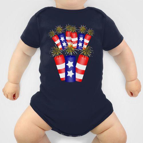#4thofJuly  Firecracker Celebration Baby Clothes by  #Gravityx9 | #Society6