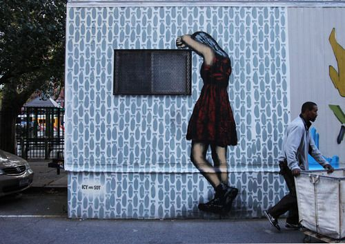 Icy & Sot - LowerEastSide (NYC)  From Tabriz to Manhattan, the Iranian street art duo is hard at work.
