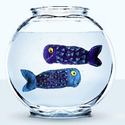 Another cute fiberart project sequin fish
