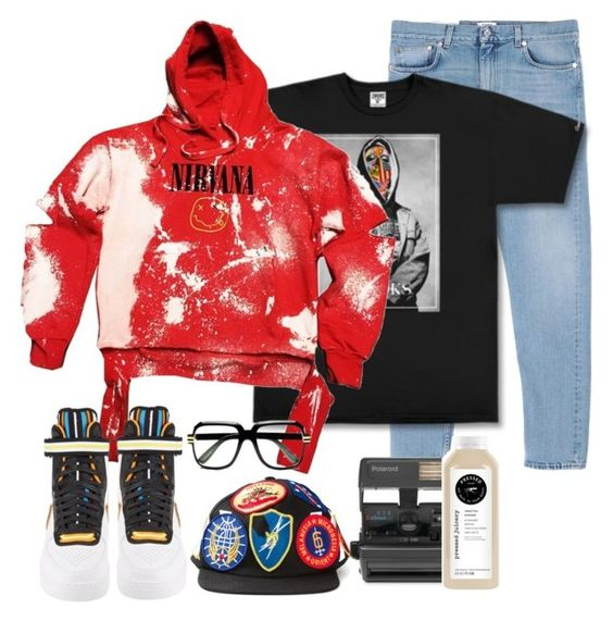 """StreetSnap: Jah"" by revolutionluxx ❤ liked on Polyvore featuring Acne Studios, Crooks & Castles, NIKE, Off-White, Cazal and Impossible"