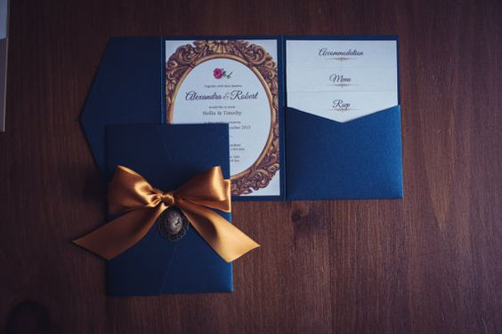 Beauty and the Beast Wedding Invite by GorgeousInvites on Etsy