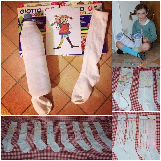 customisation des grandes chaussettes comme fifi brindacier