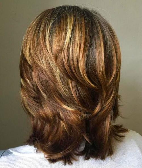 44+ Medium length layered hairstyles inspirations