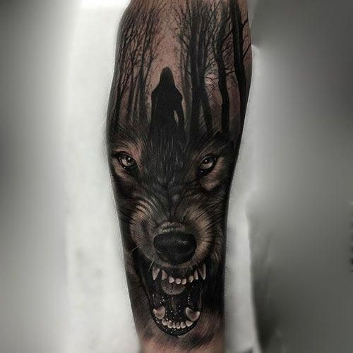 Wolf Arm Tattoo Best Wolf Tattoos For Men Cool Wolf Tattoo Designs And Ideas For Guys Howling Snarling A Wolf Tattoo Sleeve Wolf Tattoos Men Wolf Sleeve