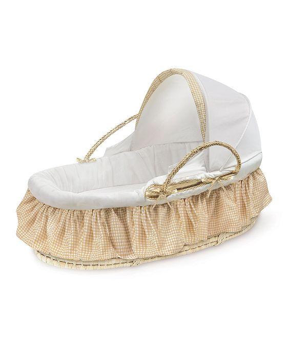 Another great find on #zulily! Badger Basket Beige Gingham Sleep Basket Set by Badger Basket #zulilyfinds