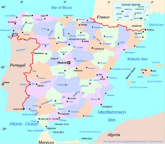 Andulusian Spain Map Of Andalucia Andalusia Spain Pinterest - Andalusia map