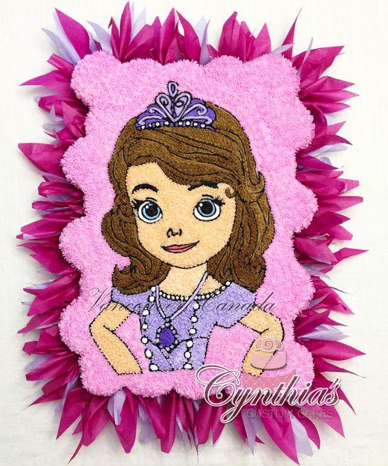 Princess Sofia the first cupcake cake! All buttercream ... Follow my work at www.facebook.com/Cynthias.Custom.Cakes: