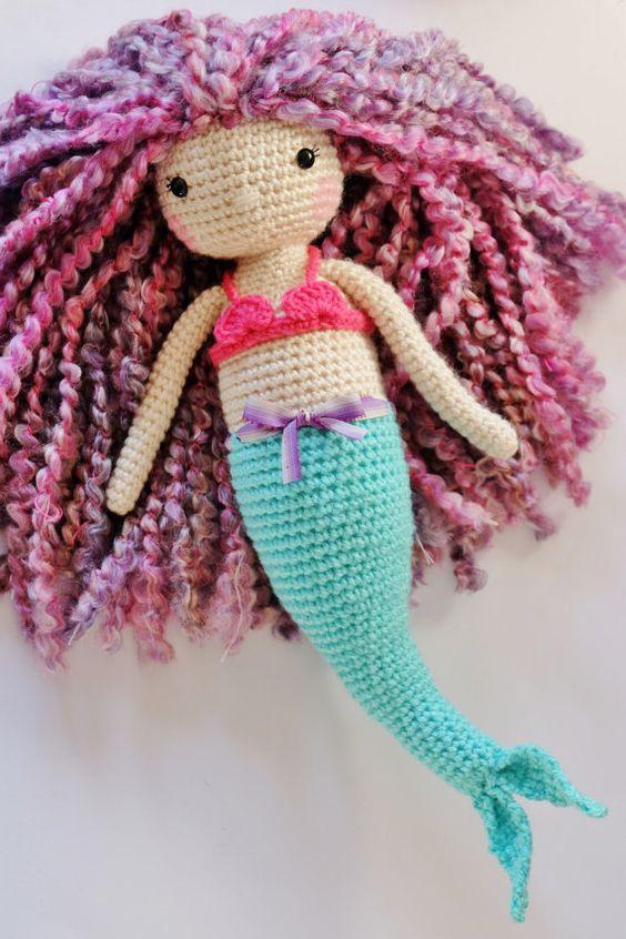 Amigurumi Mermaid Pattern : Crochet Amigurumi Mermaid PATTERN ONLY PDF Instant ...