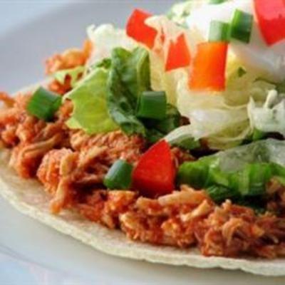 Mexican Tinga: Recipe Food, Tostada Shell, Food Mexican, Mexican Food, Mexican Tinga, Food Cooking, Tinga Recipe