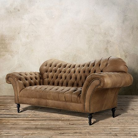 Club 81 Petite Tufted Leather Sofa In Bull Suela Arhaus Furniture