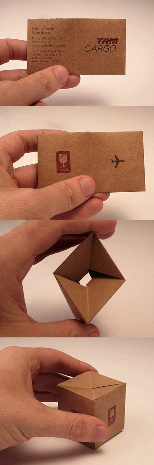 Clever 3D Folding Business Card For A Shipping Company