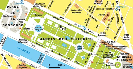 De paris and paris on pinterest - Plan detaille du jardin des tuileries ...