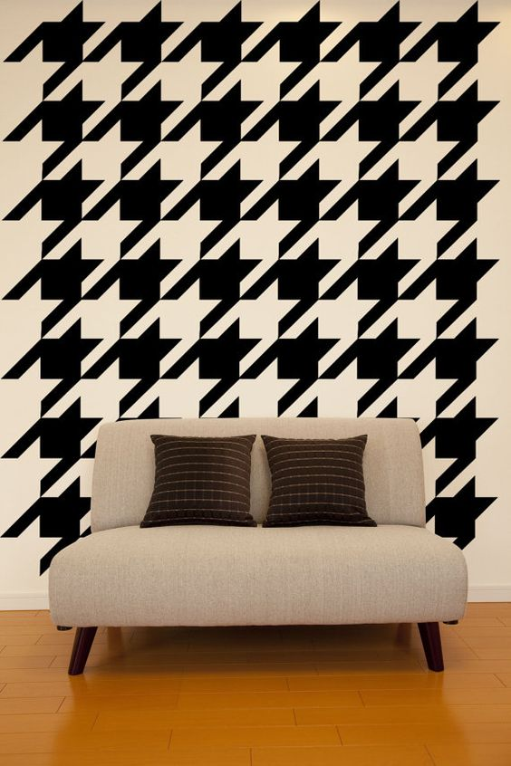 Wall Decal Geometric Houndstooth Wall Pattern by WallStarGraphics, $150.00