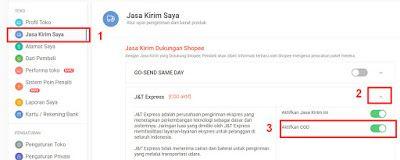 Cara Mengaktifkan Fitur Cod J T Shopee Cemiti Blog E Commerce Tips