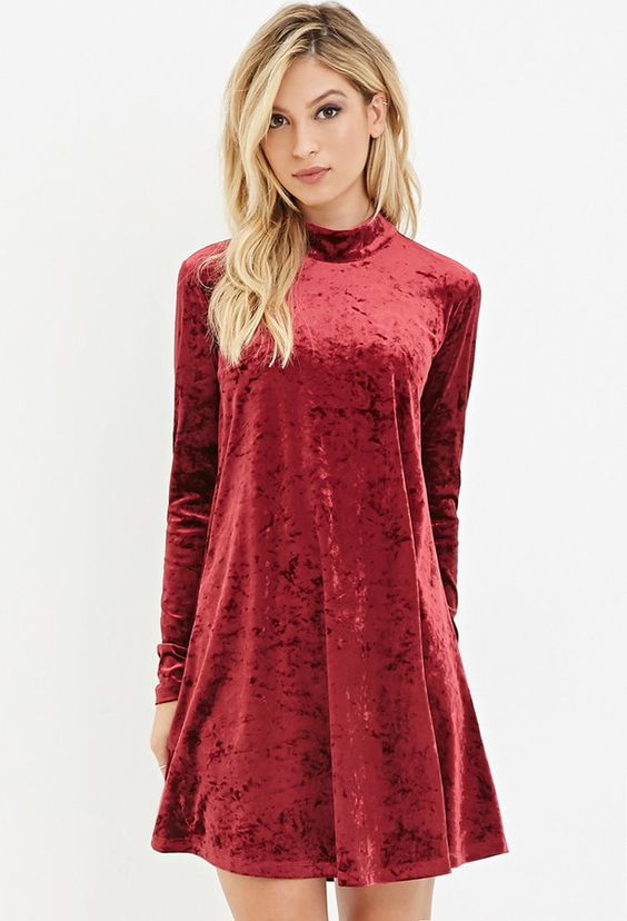 FOREVER 21 Crushed Velvet Dress: