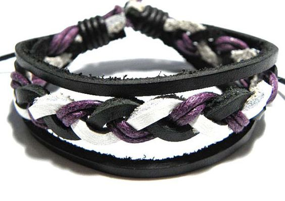 Surfer Bracelet braided leather and hemp by CookalasHouseOfCards, $4.00