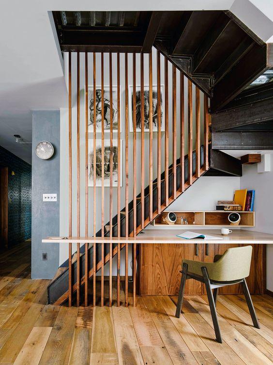 Appartement de brooklyn escaliers and brooklyn on pinterest - Idee de rampe d escalier ...