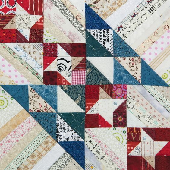 Dawn's Early Light quilt block designed by Bonnie Hunter for Quiltmaker's 100 Blocks Volume 13