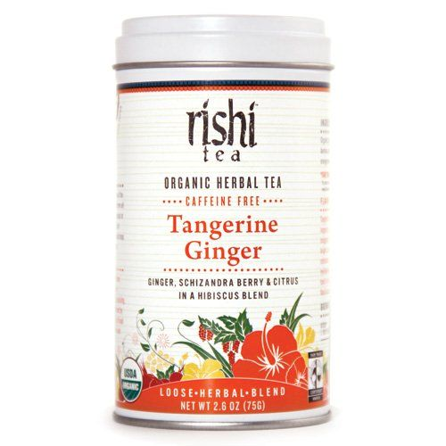 Rishi Tea Organic Tangerine Ginger Loose Tea, 2.6-Ounce Tin (Pack of 3 ...