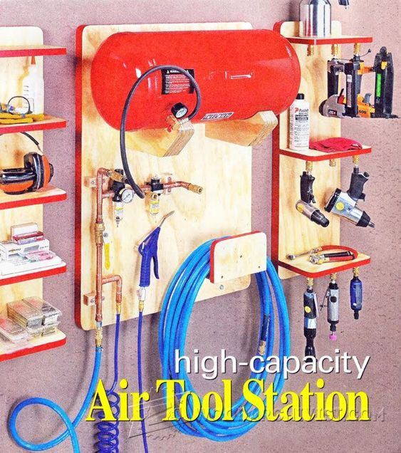 Air Tool Station Plan - Workshop Solutions Plans, Tips and Tricks   WoodArchivist.com