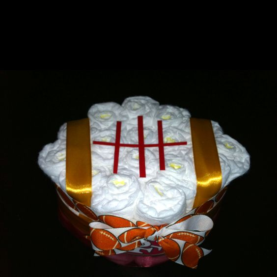 My Football Diaper Cake creation
