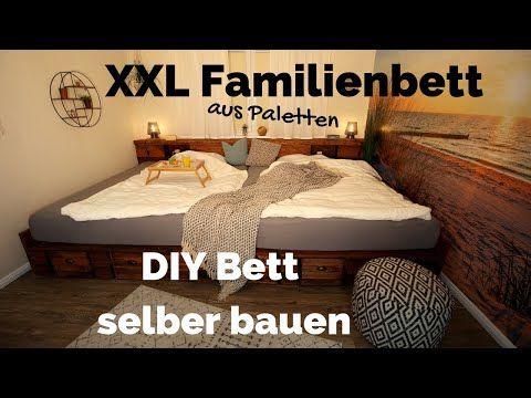Bett Selber Bauen Palettenbett Diy Xxl Kingsize Familienbett