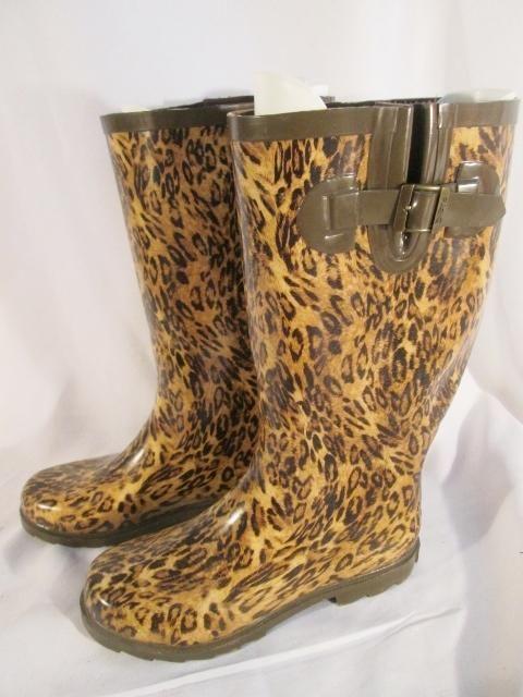 cheetah rain boots for women