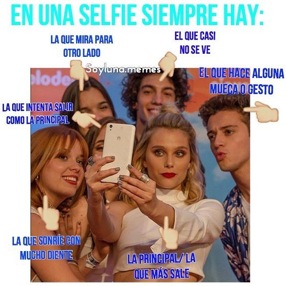 En un selfie siempre hay