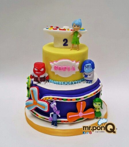 ... mr ponq more inside out fondant cake disney inside out cakes inside