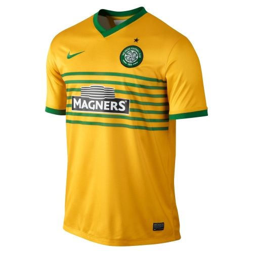 Nike Celtic FC 2013/14 Replica Away Jersey - Gold