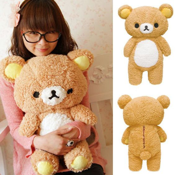 Attractive Kawaii San-x Rilakkuma Relax Bear 55cm Soft Pillow Plush Toy Doll Pop