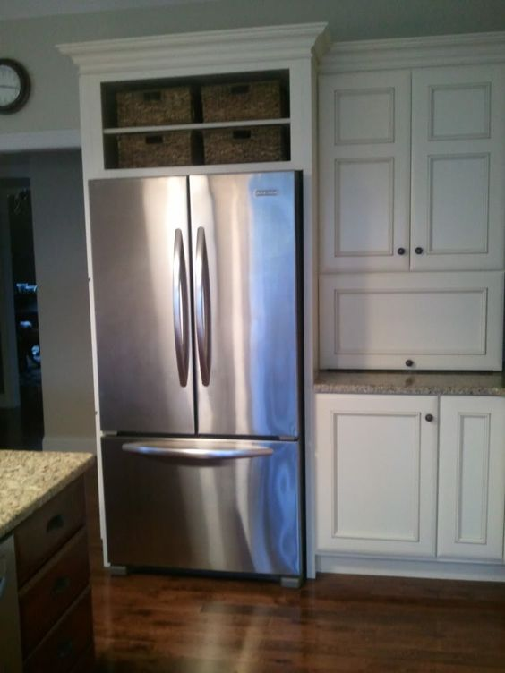 Cabinets spaces and refrigerators on pinterest What to do with space above cabinets