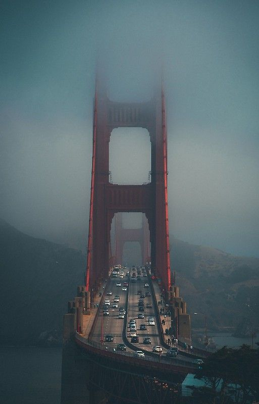 Golden Gate In The Fog Iphone Case By Pictureeyes In 2020 Best