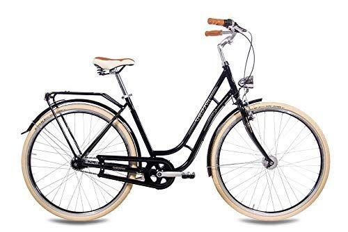 Chrisson 28 Zoll Retro Citybike Damen N Lady 7g Schwarz Damen City Fahrrad Mit Shimano Nexus 7 Gang Nabenschaltung Im Ret Damenfahrrad City Fahrrad Fahrrad