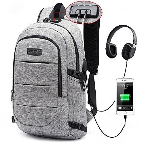 Travel Laptop Backpack Waterproof with USB Charging Port Multi-Function Pocket