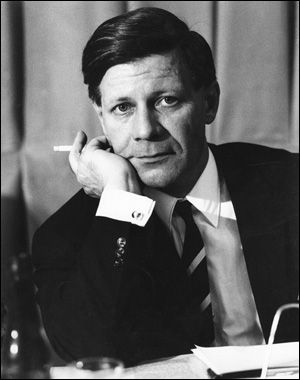 """Because very, very smart can be very, very sexy. Helmut Schmidt in 1966.     Former Chancellor of Germany, classical pianist, writer, former editor of """"Die Zeit"""", intellectual, smoker."""