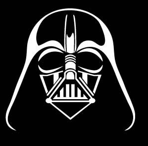 Pick color darth vader face logo decal sticker car iphone for Darth vader black and white