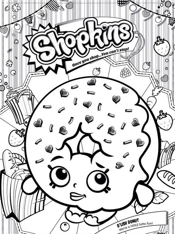shopkins donut coloring pages - photo#16
