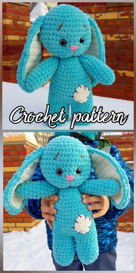 Amigurumi Cute Bunny Free Pattern #crochetamigurumifreepatterns ... | 960x480
