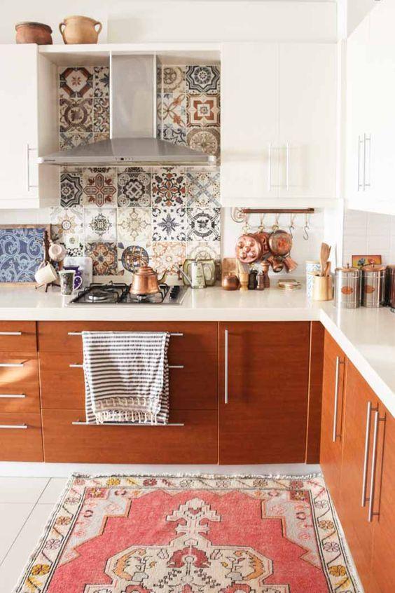 Mosaic Patterned Tile Backsplash With Images Kitchen