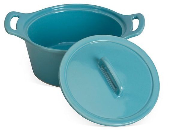 Large Round Baker w/ Lid, Turquoise | Thanksgiving Blowout | One Kings Lane