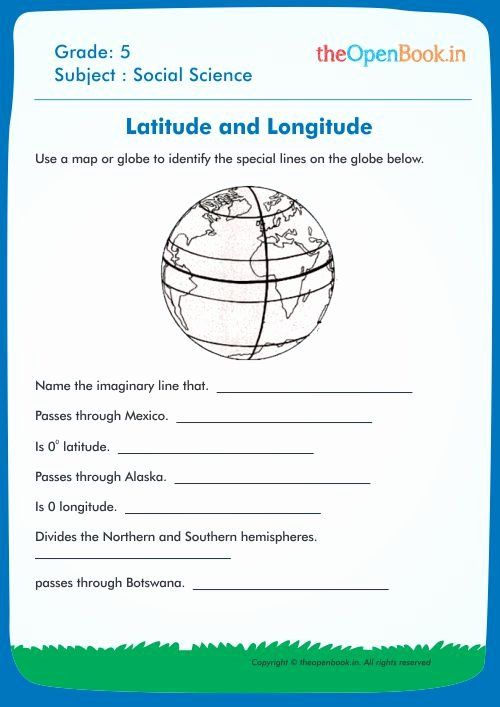 Latitude And Longitude Worksheets For Kids New Printable Worksheets For K Worksheets For Kids Kindergarten Worksheets Sight Words Printable Activities For Kids Cbse class worksheets free download