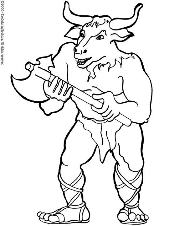 Pin By Chesk Frias On Dibujos The Minotaur Cartoon Coloring