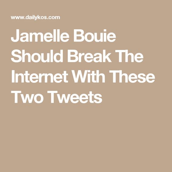 Jamelle Bouie Should Break The Internet With These Two Tweets