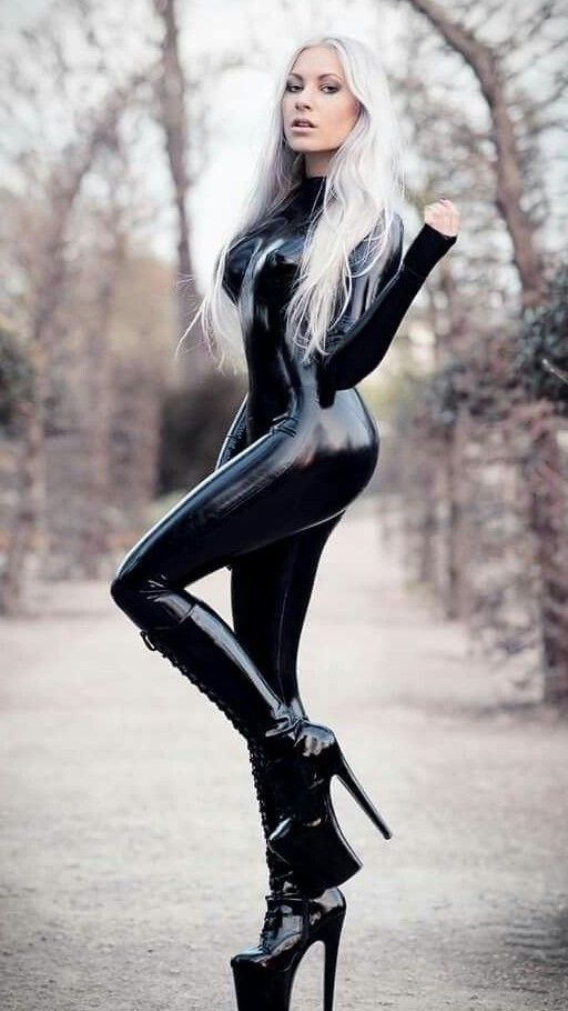 Latex rubber woman