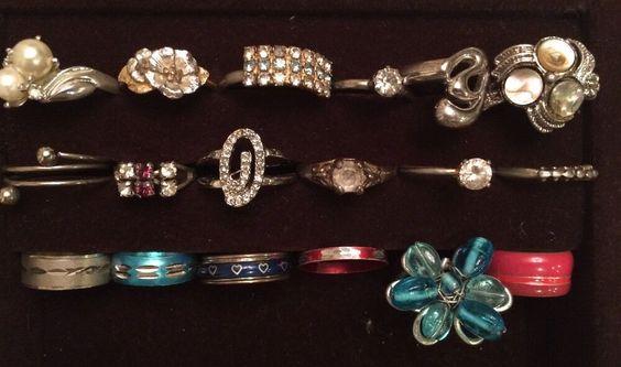 Lot 18 Vtg Costume Junk Jewelry Rings for Kids Dress Up Treasure Props Fun | eBay