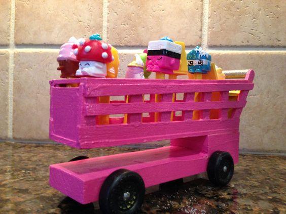 Pinewood Derby / Powderfpuff Derby Shopkins Shopping Cart.