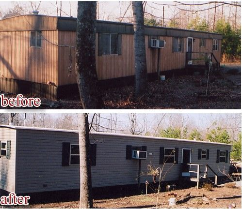 Mobile Home Exterior Facelift This Site Has Great Before And